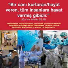 """""""Bir canı kurtaran/hayat veren, tüm insanlara hayat vermiş gibidir."""" (Kur'an, Maide [5] 32). Islam, Activities, Intensive Care Unit, Hospitals, Wrestling, Life, People"""