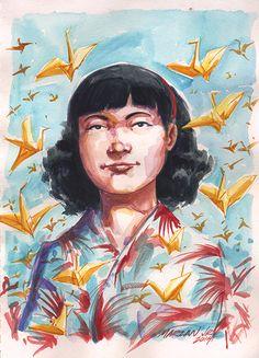 Painting of Sadako Sasaki