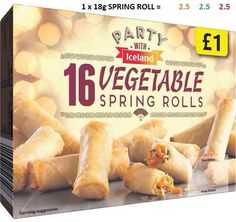 Iceland party food syns Slimming World Syn Values, Slimming World Syns, Slimming World Recipes, Iceland Party Food, Iceland Slimming World, Vegetable Spring Rolls, Hot Dog Buns, Food And Drink, Snacks
