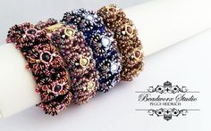 *P ODETTE O Beads, Bead Weaving, Beading, Beadwork, Bracelets, Floral, Jewelry, Diy And Crafts, Wristlets