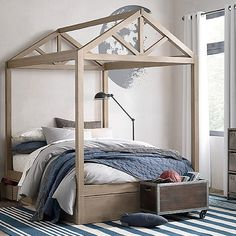 house bed frame for full-queen sized bed via bestkiddos