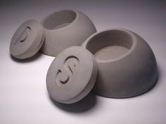 concrete salt and pepper angled dome like concrete S by kreteware