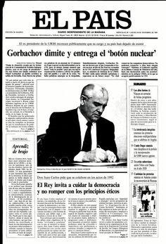 Gorbachov dimite y entrega el 'botón nuclear' El País, Madrid, 26 diciembre 1991