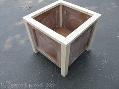 DIY Planter made from used cabinet doors.  This blog has  instructions and both written and photographs.  Nice way to improve curb appeal or have a high end look of matching planters for your patio.