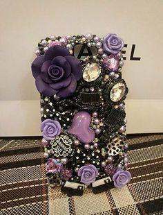 Samsung Galaxy Note case, Galaxy Note case, cabochons case, Anna Sui case, galaxy note II case, Samsung N7100 case