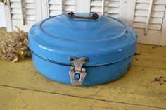 This is a rare and beautiful 1940s bread bin made by Worcester Ware, a ...