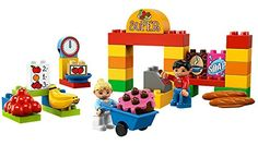 A shopping cart full of building fun! There's much to do at the Supermarket! With so many items to buy including bananas bread cake soap coffee and fruit the cashier will be glad to ring up all o...