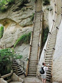 Huashan Mountain hikes China
