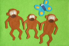 Monkey Puzzle by Julia Donaldson - felt board with felt animals DIY