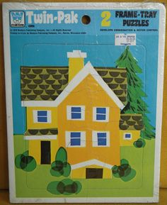 Vintage/Retro Whitman Twin-Pak 2 Frame Tray Puzzles Made in USA 1978 - Wall Art