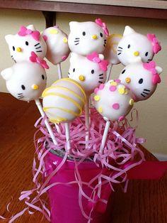 Hello Kitty cake pops wwwfacebookcomcakepoppin Cake Poppin