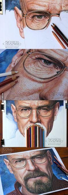 Breaking Bad - Hyperrealism in crayon