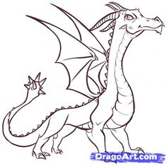 Step 17. How to Draw Easy Dragons
