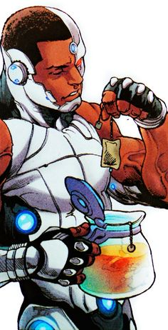 I started collecting Black Action Figures, Black appearances, and pictures of Black Superheroes in Comics. Cyborg Dc Comics, Arte Dc Comics, Marvel Comics, The New Teen Titans, Teen Titans Go, Blue Beetle, Futuristic Art, Comics Universe, New Wave