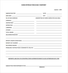 Daily Construction Report Template – 25+ Free Word, PDF Documents ...