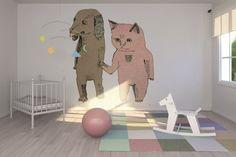 Cat and Dog  #Wall #Mural & Photo Wallpaper   Julia Pott via Photowall