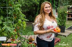 """GRAFTED TOMATOES & TOMATO TOWERS!"" Set your DVR's for tomorrow and learn about ""grafted tomatoes"" and how to make a stately ""tomato tower"" that will help your tomatoes grow to their potential and ripen their sweetest! Home & Family on Hallmark Channel USA, Fri. 10am pst"