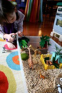 Pink and Green Mama: Sensory Box: Zoo Box