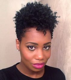 This Cute Tapered TWA!!! @MissKendraK changing her color to black!