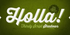 Thirsty Script Font Poster