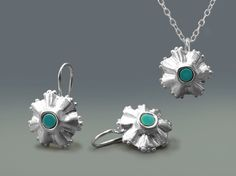Turquoise jewellery sets Turquoise necklace by ChenFuchsJewelry