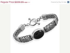 NOW ON SALE Ornate Sterling Silver Bali Style by jewelrymandave
