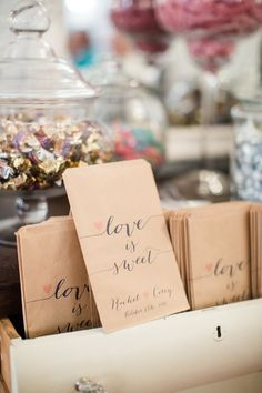 love is sweet wedding favors candy bar custom paper candy bags diy wedding