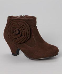Loving this Brown Mia Flower Boot on #zulily! #zulilyfinds