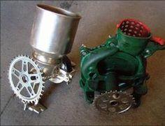 Multi-purpose Pedal Powered Machines  Interchangeable thresher and degrainer mayapedal