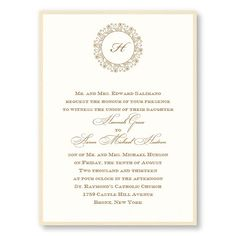 Hannah 2-Layer Wedding Invitations by TheAmericanWedding.com