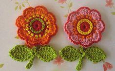 flores multicolor crochet