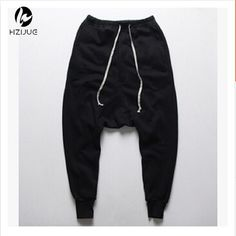Baggy Tapered Bandana Pants Hip Hop Dance Harem Sweatpants Drop Crotch Pants Men Parkour Track Tapered Trousers