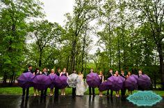 #Bridal #Party #Rainy #Wedding #Group #Portraits  Photo By: Angela Wilson Photography  www.AngelaWilsonPhoto.com