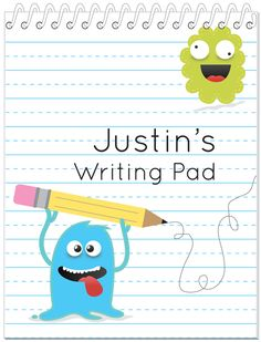 Practice Notebook - Each spiral writing pad contains 100 lined sheets, and you can select kindergarten lines or reqular lines.