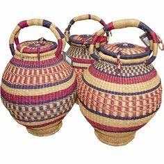 Africa | Bolga baskets from Ghana. | Made in the Bolgatanga region.