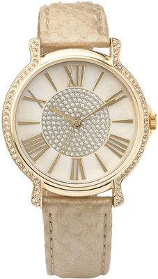 Anne Klein Women's Crystal Bezel Watch - Polyvore