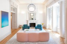 New York, NY Set in the landmarked 19th century Osborne apartment building, Fogarty Finger designed and renovated this sprawling split-level apartment for a young family hoping to retain the histor…