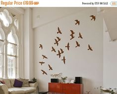 Summer Sale Flock of Birds Wall Stickers