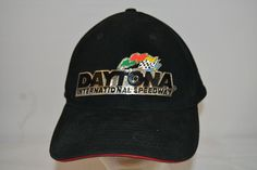 Daytona Internional Speedway Black Baseball Cap  Adjustable #RPMSport #BaseballCap
