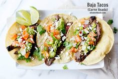 carne asada tacos with juicy marinated flank steak ohsweetbasil.com