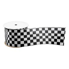 Large Checkered Flag Racing Pattern Blank Ribbon sold thx to my referrer! #zazzle