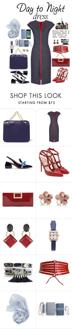 """Day to Night in Denim"" by montse-gallardo ❤ liked on Polyvore featuring Roksanda, Anya Hindmarch, Valentino, Roger Vivier, Allurez, Marni, Marc Jacobs, Pupa, Alaïa and LEXON"