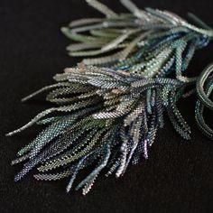 "DIY KIT and  TUTORIAL ""In the moonlight""  für Collier "" Im Mondschein Jewelry Art, Beaded Jewelry, Jewelry Ideas, Beading Needles, Brick Stitch, Beaded Flowers, Diy Kits, Bead Weaving, Really Cool Stuff"