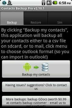 Android apps contacts backup.  >> For more info click the picture ♥