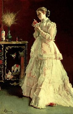 The Lady in Pink, by Alfred Emile Stevens