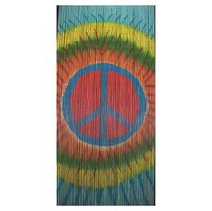 Beaded Door Curtains   Peace Symbol