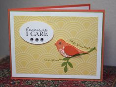 CC370 Caring Tangerine Bird, SUM by CAKath - Cards and Paper Crafts at Splitcoaststampers