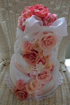 おむつケーキ(dipercake)♥️Elegant Rose | bebesoleil