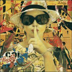 Silence (Tribute to Mimmo Rotella) - Digital Artwork 50x50cm - Final Destination: Milano - Unique Piece