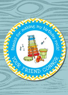 Kids Party Favor Gift Label Gift Tags Birthday by prettypress, $5.00